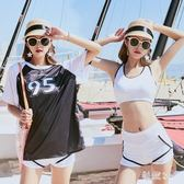 比基尼游泳衣性感分體三件套帶胸墊聚攏小香風游泳女士度假游泳衣 js3874『科炫3C』