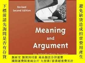 二手書博民逛書店Meaning罕見And ArgumentY464532 Ernest Lepore; Sam Cumming