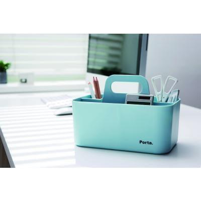 義大文具-Porta 手提可推疊收納盒 68021/筆筒/多功能收納/工具盒(小)