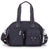 Kipling經典Basic雙口袋Defea肩側背兩用波士頓包(夜藍色)460108-138
