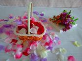 手工藤編織婚慶用品婚禮花瓣籃