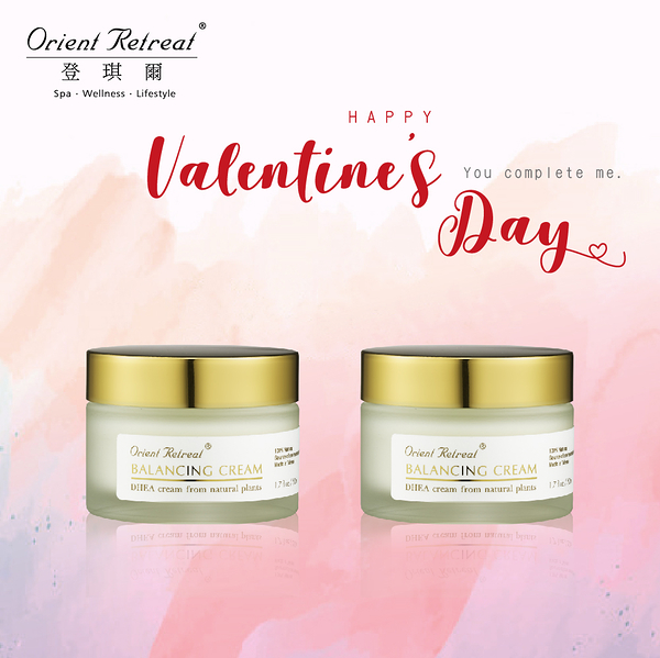 【Orient Retreat登琪爾】青春花鑰霜二入組(升級版)Balancing Cream (50mlX2) 情人節