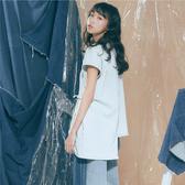 淺藍造型綁帶針織牛仔背心【1919601208】