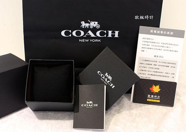 【Coach】/質感三眼女錶(男錶 女錶 Watch)/14602136/台灣總代理原廠公司貨兩年保固