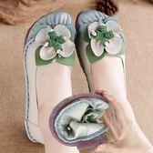 豆豆鞋 樂福鞋休閒女鞋春夏民族風單鞋平底復古軟底正韓-新主流