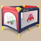 ☆Matsuco 瑪芝可☆【PY840-紅藍車車】收折式平邊嬰兒床/遊戲床(附蚊帳、床墊、收納袋)