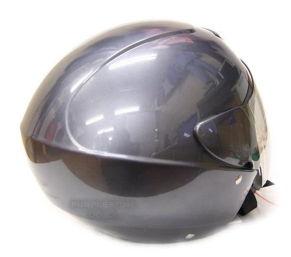ZEUS 瑞獅安全帽,半罩安全帽,3/4帽,飛行帽,202D,素色,灰