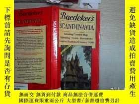二手書博民逛書店Baedeker s罕見SCANDINAVIA 貝德克斯堪的納維亞半島(31)Y203004