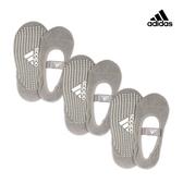 Adidas 防滑吸汗瑜珈襪-灰(20-23cm)-三入組