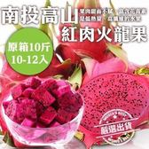【WANG-全省免運】台灣高山紅肉火龍果【10-12入原裝箱(10斤 ± 10%含箱重 / 箱)】