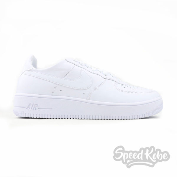 NIKE Air Force 1 Ultra Force LTHR 全白 皮革 復古 輕量 男 845052-101☆SP☆