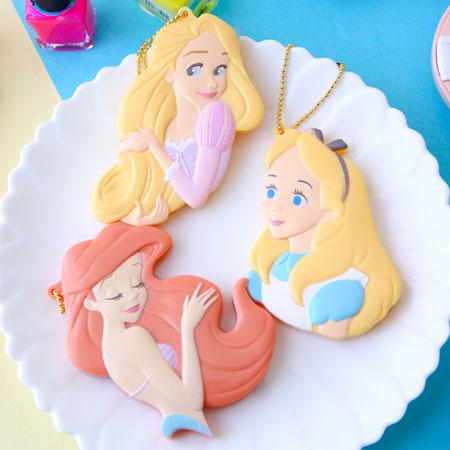 日本 迪士尼限定 夢幻公主系列 隨身折疊扁梳 梳子 摺疊梳  隨身梳 小美人魚 愛麗絲 長髮公主