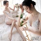 天使波堤【LD0522】深V雕花連身睡裙...