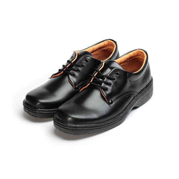 SARTORI 綁帶方頭學生鞋 黑 男