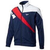 REEBOK CLASSICS VECTOR TRACK 男裝 外套 慢跑 訓練 防風 乾爽 藍【運動世界】EC4604