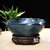 魚缸 陶瓷魚缸大號荷花盆睡蓮碗蓮花盆烏龜缸瓷缸養金魚淺盆客廳T 2色