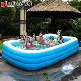充氣泳池 兒童充氣游泳池加厚家用大人小孩家庭洗澡池兒童寶寶戲水池超大號T 1色