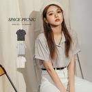 襯衫 Space Picnic|雙色花朵...