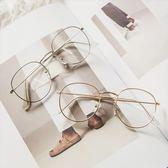 韓國復古艺文小清新女原宿百搭超輕潮流可愛細框圓形鏡架平光眼鏡280