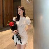 緊身洋裝 法式小心機性感包臀短裙夏季年氣質裙子甜美女 韓流時裳