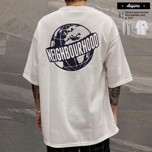 短T NEIGHBOURHOOD 韓國 太空棉寬鬆落肩 五分袖短T【KA220】落肩 寬鬆短袖 情侶