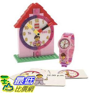 [美國直購] LEGO 9005039 時間教育 鬧鐘+手錶 女孩版 Time Teacher Pink Set with Plastic Watch Constructible Clock