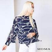 MOMA 波紋荷葉雪紡上衣