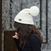 毛帽-字母純色毛球保暖男女針織帽8色73ug23[巴黎精品]