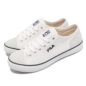 Fila 休閒鞋 C318V 白 黑 帆布鞋 男鞋 基本款 小白鞋 韓系 麂皮設計 【ACS】 1C318V143