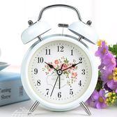 學生床頭創意兒童小鬧鐘可愛卡通靜音簡約臥室迷你超大聲臺鐘鬧錶「夢娜麗莎精品館」