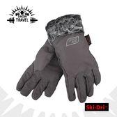 【SNOW TRAVEL SKI-DRI防水透氣水鑽手套《灰》】防水透氣/保暖手套/出國旅行/賞雪/AR-56