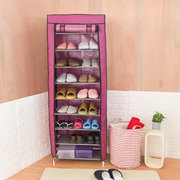 樂嫚妮 九層DIY組合鞋架 鞋櫃 防塵鞋架 鞋櫃 鞋子收納