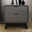 床頭櫃北歐床頭櫃 現代簡約小戶型迷你木質收納櫃烤漆創意床邊小櫃子CY『新佰數位屋』