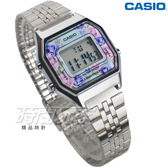 CASIO卡西歐 復古數字型 LA680WA-2C 電子錶 玫瑰花系 女錶  學生錶 銀色 LA680WA-2C