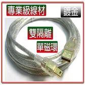 US-28 (5米) USB2.0 A公-MINI 5P公鍍金透明強化線