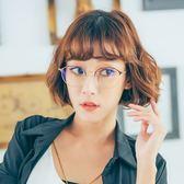 ASLLY濾藍光眼鏡-維納斯的讀心術/棕色眉型金框濾藍光眼鏡