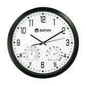 CL-130 溫濕度計靜音掛鐘 時鐘 鬧鐘 掛鐘 壁鐘 LCD電子鐘【迪特軍】