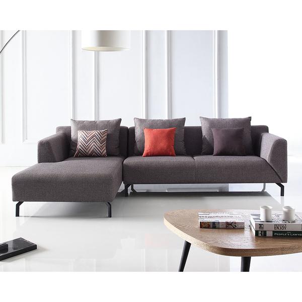 【森可家居】優庫L型沙發(面左) 8JX427-3 布沙發 北歐風 美式休閒 布套可拆洗