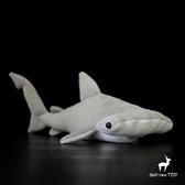 可愛錘頭鯊公仔 仿真雙髻鯊毛絨玩具 海洋動物毛絨玩具 40CM