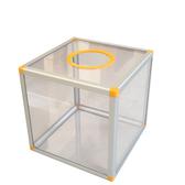 30CM大號全透明無字空白抽獎箱搖獎箱抽簽箱投票箱ATF 歐尼曼家具館
