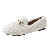 毛毛鞋女冬外穿鞋子2019年新款潮鞋羊羔毛百搭網紅豆豆鞋加絨女鞋