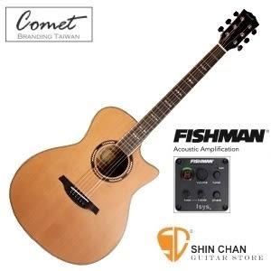 Comet C-480E 紅杉木單板 / Fishman拾音器EQ  可插電木吉他 / 民謠吉他 / 木吉他  【附贈多樣配件】