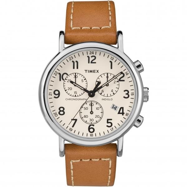 【分期0利率】TIMEX 天美時 米面 咖啡牛皮帶 三眼計時秒錶 復刻系列 全新原廠公司貨 TW2R42700