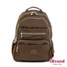 【i Brand】經典百搭超輕盈多口袋後背包-深咖啡 TGT-1604-KA