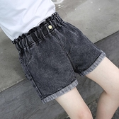 女童短褲夏季黑色2021新款兒童洋氣中大童牛仔短褲外穿女孩褲子薄 幸福第一站