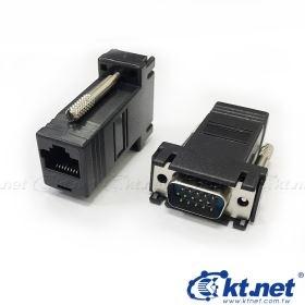 KTNET-VGA 公轉 RJ45母轉換頭 VGA訊號延長器 15公轉RJ45  轉網路線/DSUB轉接頭/訊號延長器連接頭/轉換頭