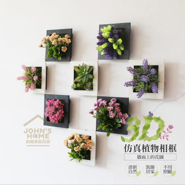 3D立體仿真植物牆面相框花 清新田園假花卉壁掛 牆面裝飾 8款可選【TA075】《約翰家庭百貨