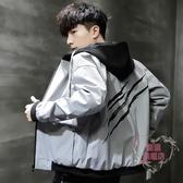 外套男 男士外套春秋款新款夾克男裝韓版潮流寬鬆帥氣秋冬休閒棒球服