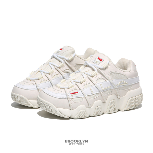 FILA 休閒鞋 BARRICADE XT 97 米白 麂皮 刺繡 老爹鞋 女 (布魯克林) 4B007U133