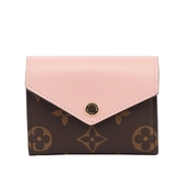 【LV】Monogram ZOE零錢袋短夾(粉色) M62933